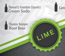 LIME's drink menu