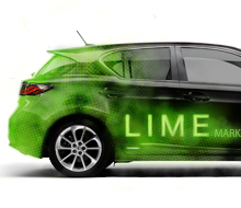 Car wrap (the LIME-mobile)