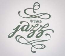 Utah Jazz screen print
