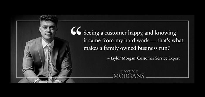 """Meet the Morgans"" social posts (for Morgan Jewelers)"